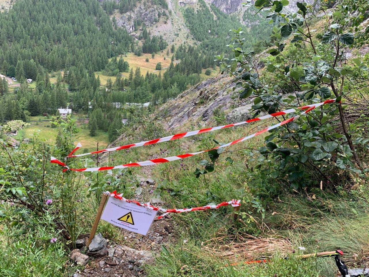 Ailefroide: Interdiction temporaire d'accès au couloir de descente de la Tête de la Draye
