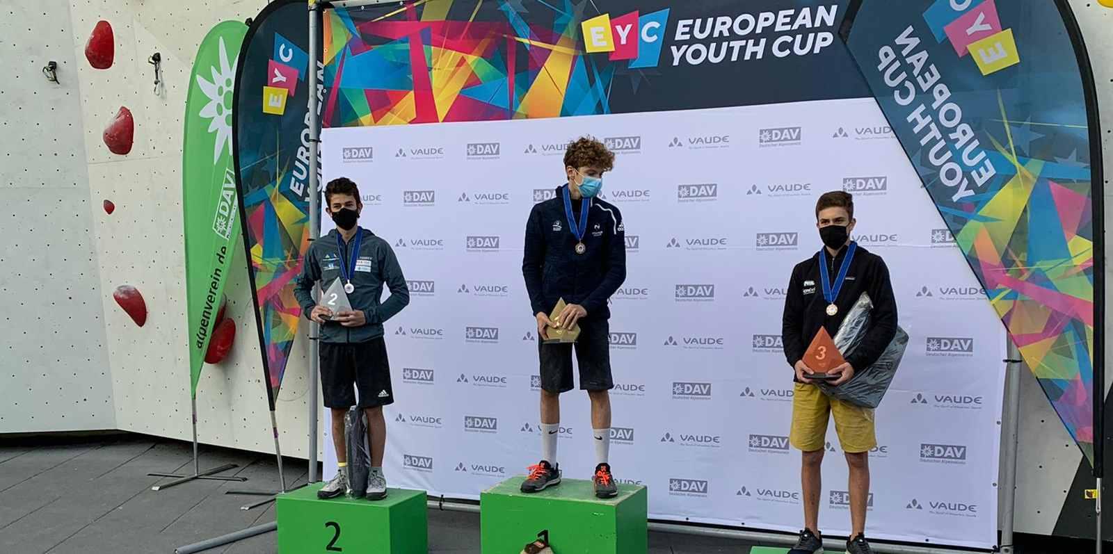 Mejdi Schalck en or sur la Coupe d'Europe jeunes de difficulté à Augsburg