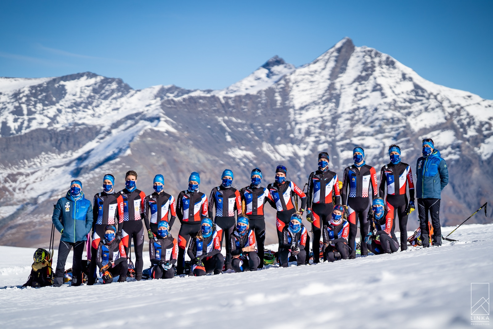 L'équipe de France de ski-alpinisme en stage à Tignes
