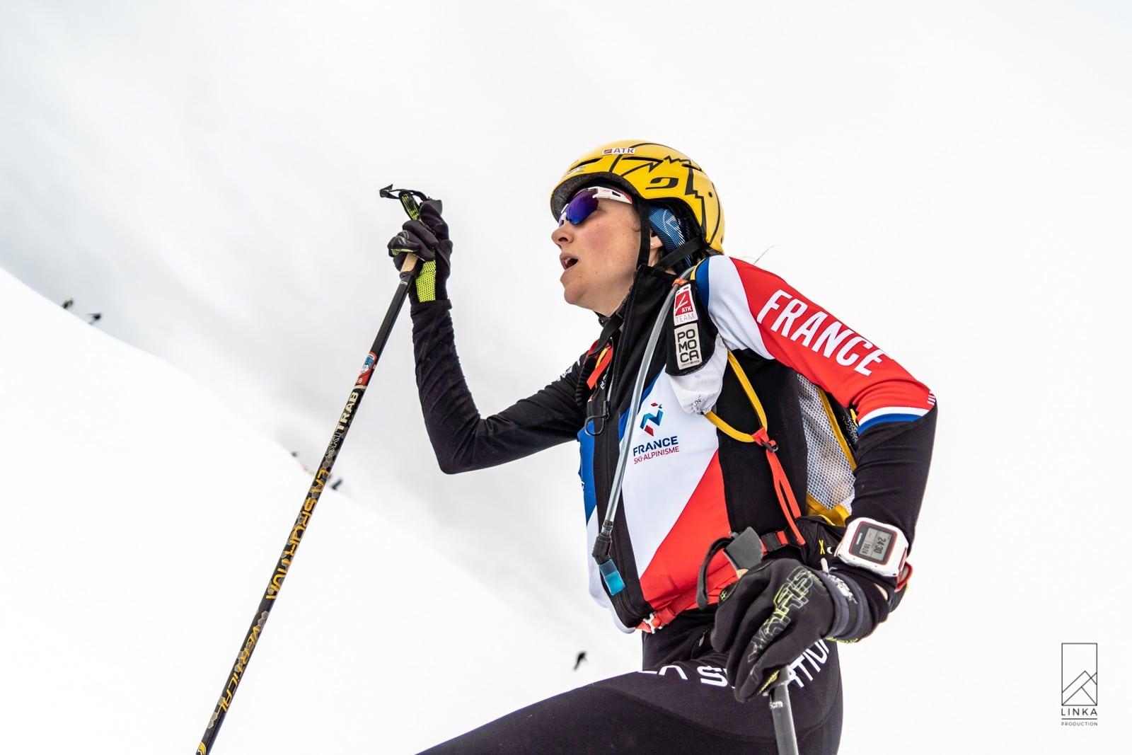 Axelle Gachet-Mollaret en argent sur la course individuelle