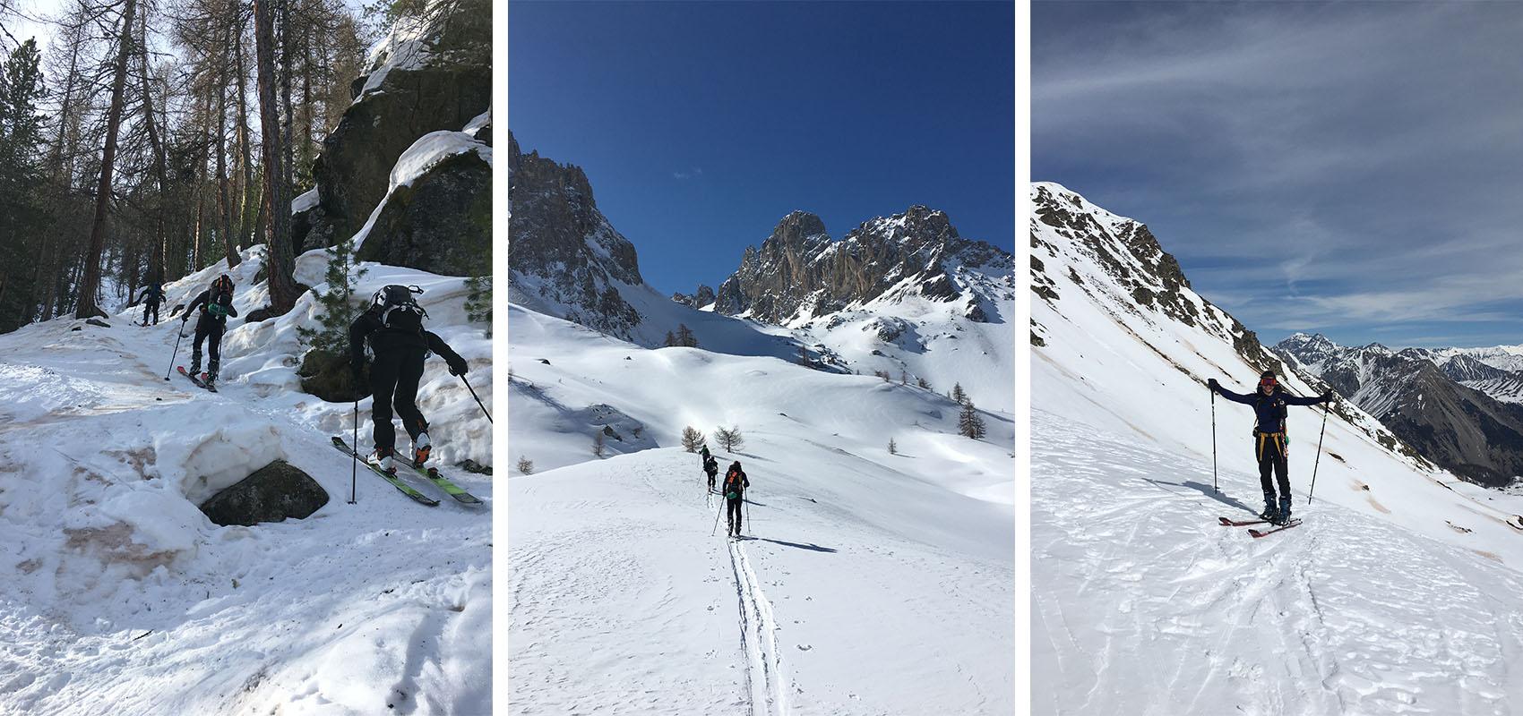 Mini raid ski de rando pour le club Escalagou (34)